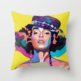 Janelle M Throw Pillow