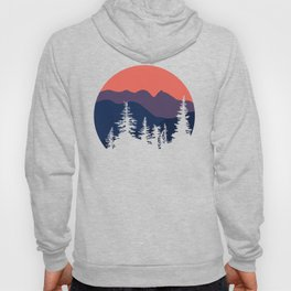 Mountain Sunset Orange and Purple Hues Hoody