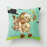 anarchy Throw Pillows featuring Anarchy Time by Beery Method