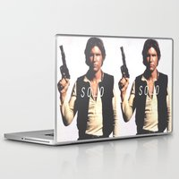 han solo Laptop & iPad Skins featuring Han / Solo by Earl of Grey