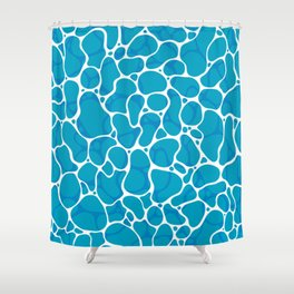 The Great Sea: Graphic Ocean Water Pattern Shower Curtain