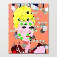 hepburn Canvas Prints featuring Hepburn by Ricky Sencion