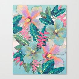 Aqua Ginger Alohas Canvas Print