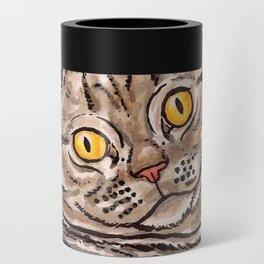 Grey Cat Can Cooler
