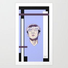 Violet geometry ver. I Art Print