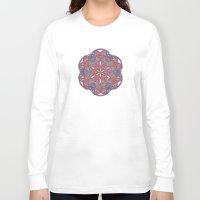 sacred geometry Long Sleeve T-shirts featuring Sacred Geometry Kaleidoscope Mandala  by Jam.