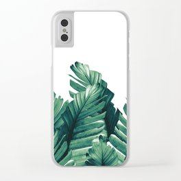 Green Banana Leaves Dream #1 #tropical #decor #art #society6 Clear iPhone Case