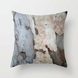 Bark Of A Eucalyptus Tree  Throw Pillow