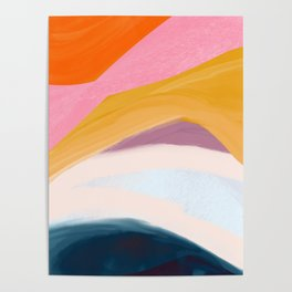 Let Go - no.36 Shapes and Layers Poster