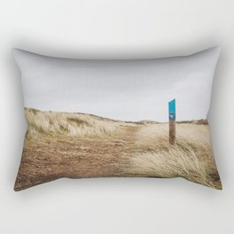 Photo of a hiking route through the dunes, on the Dutch Wadden Island Texel, in the world heritage of the Waddensea | Fine Art Travel Photography | Rectangular Pillow