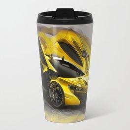 McLaren P1 Digital Painting | McLaren | Automotive | Car Travel Mug