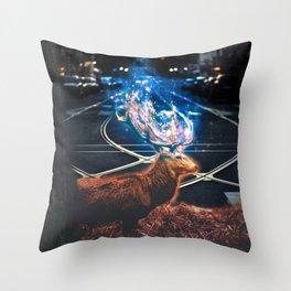 encroachment Throw Pillow