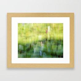 Tropical Impressionism - Lily Pond Framed Art Print
