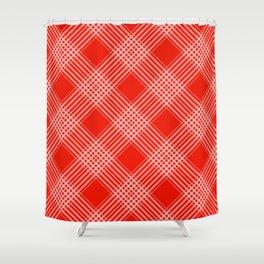 Red Pattern Design Shower Curtain