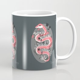 There is nothing as eloquent as a rattlesnake's tail, inspirational quote Coffee Mug