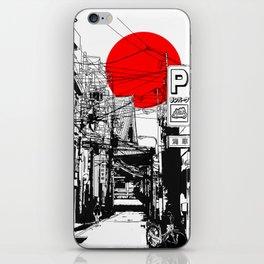 Tokyo street sunrise iPhone Skin