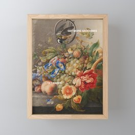 Get More Groceries Get Eaten Framed Mini Art Print