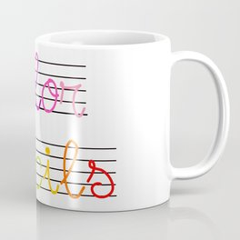 Color Pencils Font Coffee Mug