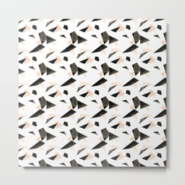 Triangle Scatter Metal Print