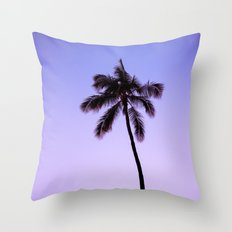 palm tree ver.violet Throw Pillow