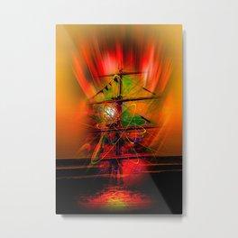 Sailing romance Metal Print