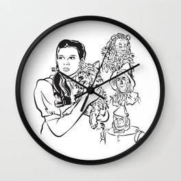 Face The Ozzies - W Wall Clock