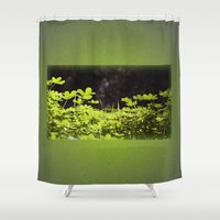 clover Shower Curtains featuring Clover by Thomas Ray Publishing