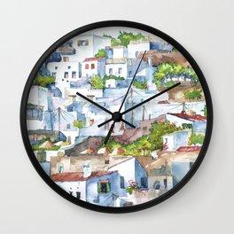Panorama of Lindos Wall Clock