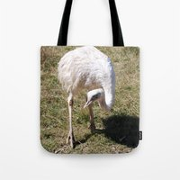 ostrich Tote Bags featuring Ostrich by Sarah Shanely Photography
