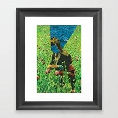 field of tall poppies Framed Art Print