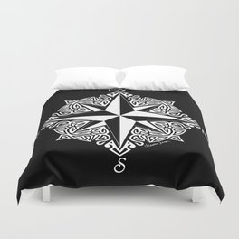 Cindy's Tribal Compass Rose Duvet Cover