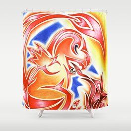 Tribal Char Shower Curtain