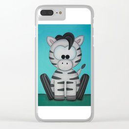 Scooter the Zebra Clear iPhone Case
