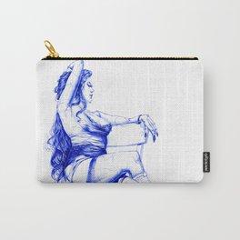 Lady Ultramarine.  Леди Ультрамарин. INK ART. Yury Fadeev Carry-All Pouch