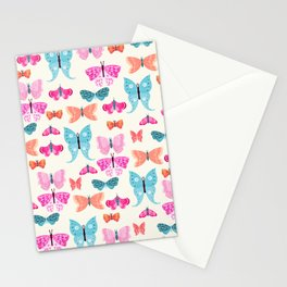 Butterflies in pink Stationery Cards