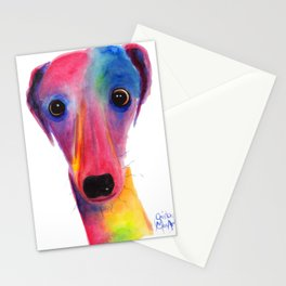 Nosey Dog Whippet Greyhound ' BeLLa ' by Shirley MacArthur Stationery Cards