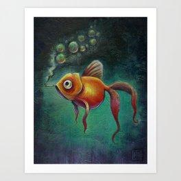Smoked Salmon Art Print
