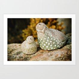 quails Art Print