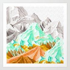 Patterns in spring mountain Art Print