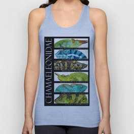 Chameleons of the World Unisex Tank Top