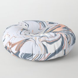Liquid metal Marbled paint Floor Pillow