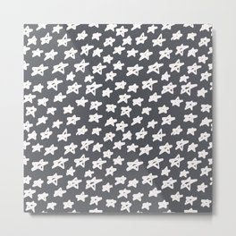 Stars on grey background Metal Print