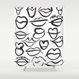 Lips Full Shower Curtain