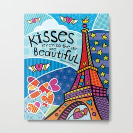 Kisses Even To The Air Are Beautiful Metal Print