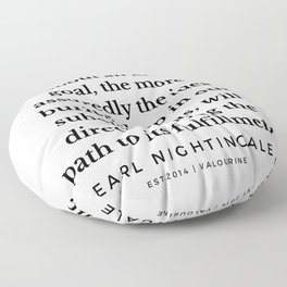 16   |  Earl Nightingale Quotes | 190829 Floor Pillow
