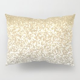 Gold and Silver Glitter Ombre Pillow Sham