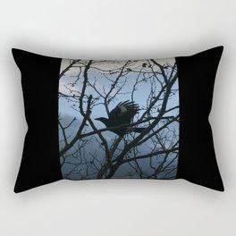 Pied Currawong Silhouette DPG150613 Rectangular Pillow