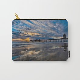 HB Sunsets  1/6/16   /  Sunset At The Huntington Beach Pier Carry-All Pouch