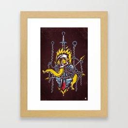 Cursed Knight Framed Art Print