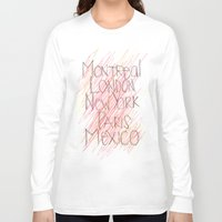 cities Long Sleeve T-shirts featuring CITIES by K'VAL